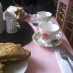 Love the quirky tea cups & saucers