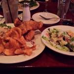Fish & Chips with Slaw and Side Salad