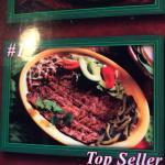 Top items - beef skirt, fish taco and jalapeño taco