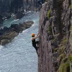 Climbing in Pembrokeshire with Brett Ffitch of Rock-up Climbing