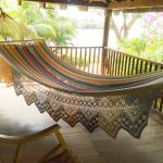 hammocks on the first floor looking at the lake