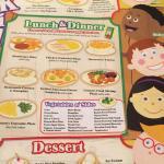 Cracker Barrel kids menu