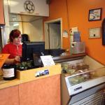 Efficient wait staff handling brisk business
