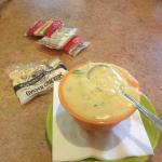 Crab asparagus soup