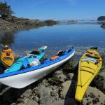 Kayaks in the sun