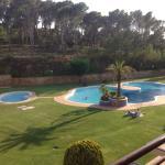 Les jardins et la piscine