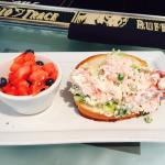 Lobster Roll with fresh fruit