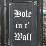 Hole in t' Wall sign - with beautiful calligraphy