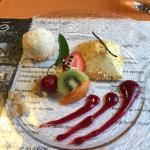 Dessert glace cacahouetes et vanille