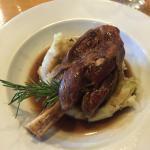 The lamb shank...