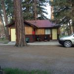 The outside of the cabins were great. The exterior is kept up very well! It was quiet and plenty