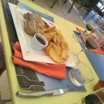 Cochon espagnol et ses frites maison Cassoulet du moulin