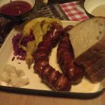 Sausages and bread