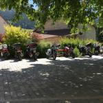 la terrasse spéciale motards...