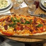 Vip sausage pizza plus two risottos
