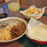 house margarita and chile combo plate