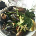 Huge serving of delicious mussels