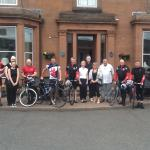 Army Recruiting Group on a cycle from lands end to John O Groats