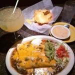 Burritos de Carne Asada, Queso Dip & Cadillac Margarita