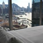 view from room from bed