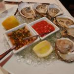 Fresh oysters with mouthwatering sauces