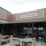 Outdoor seating at City Barbeque IUPUI location