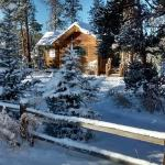 The Meadow Creek Cabin in Winter