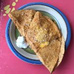 The buzzard dilla is huge & yummy.
