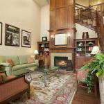 Lobby Area with Fireplace