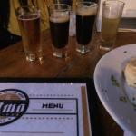 Beer sampler and appetizer