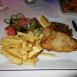 Fantastic Fish & Chips at the Hotel Zinbad Restaurant, Kalkan