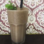 Banana,mint,acai smoothie
