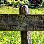 Quaint sign along trail