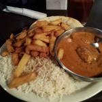 Butter Chicken with Basmati Rice and Chips