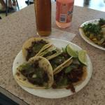 Marinated pork, beef's eye and tongue. Exquisite tacos!!!