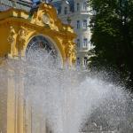 Вид на отель от музыкального фонтана
