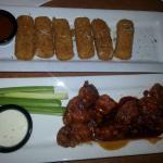 Boneless Wings and Mozzarella Sticks Appetizers