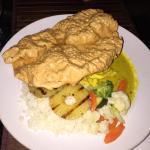 Curry chicken. 60 EC. Good.