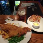 Fantastic fish and chips dinner!