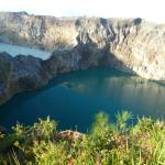 Twin lakes at Keli Mutu