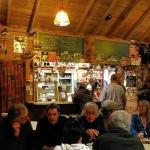 convivial pub scene
