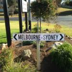 sign near road entrance