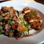 Barbeque Chicken Salad with roast lemon