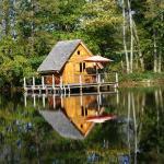 Cabane sur l'étang neuf