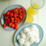 Summer strawberries and meringues
