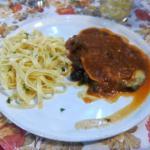 Escalope // aubergines