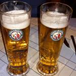 Schinkenteller und lecker Bier bzw Radler
