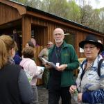 Stewart at the Visitor Centre