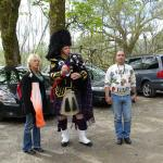 The Piper in the car park