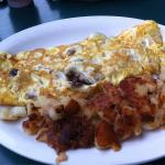 French toast special and cheese & mushroom omlet